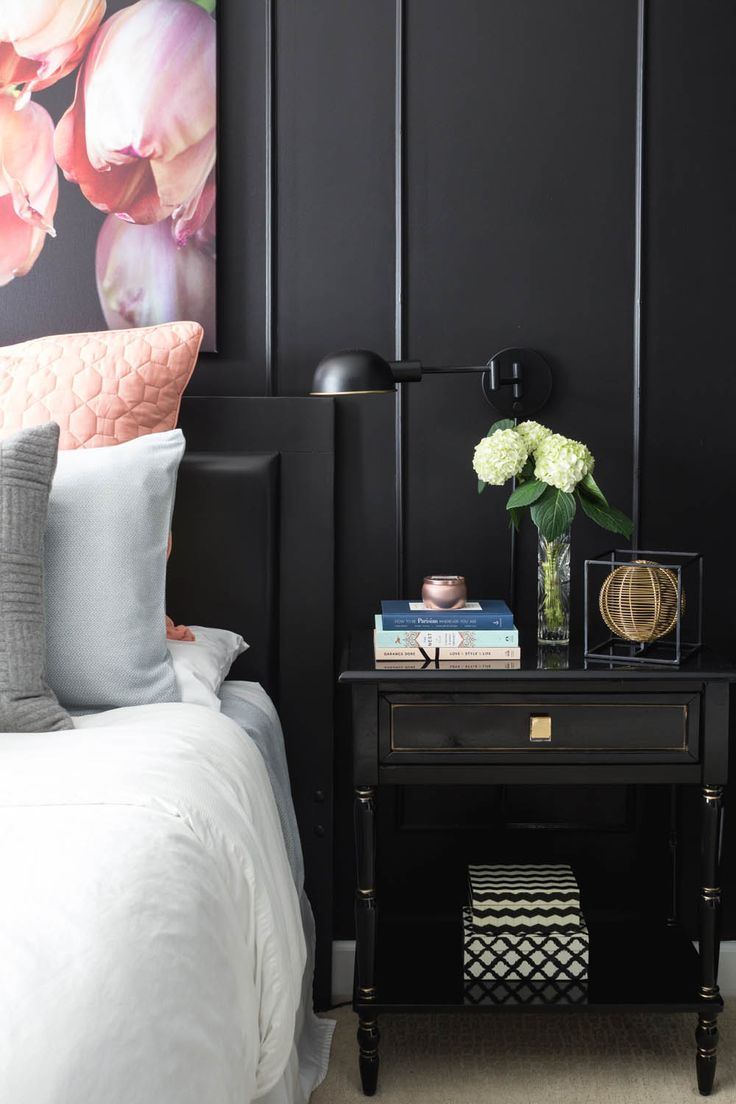 Μαύρο υπνοδωμάτιο.