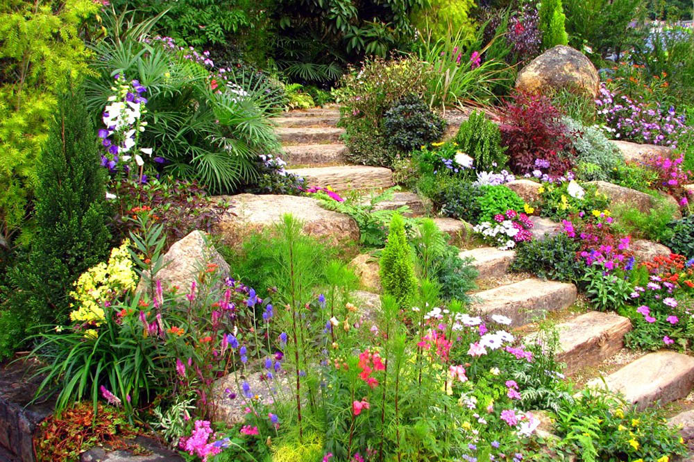 Ιδέες για καλοκαιρινό κήπο.
