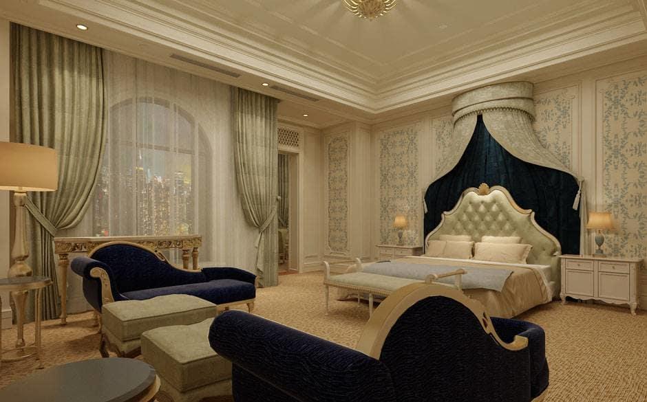 Υπνοδωμάτιο - σουίτα ενός ξενοδοχείου.